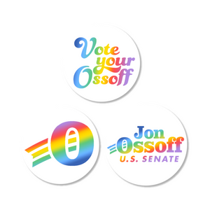 Vote Your Ossoff Pride Sticker 3-Pack