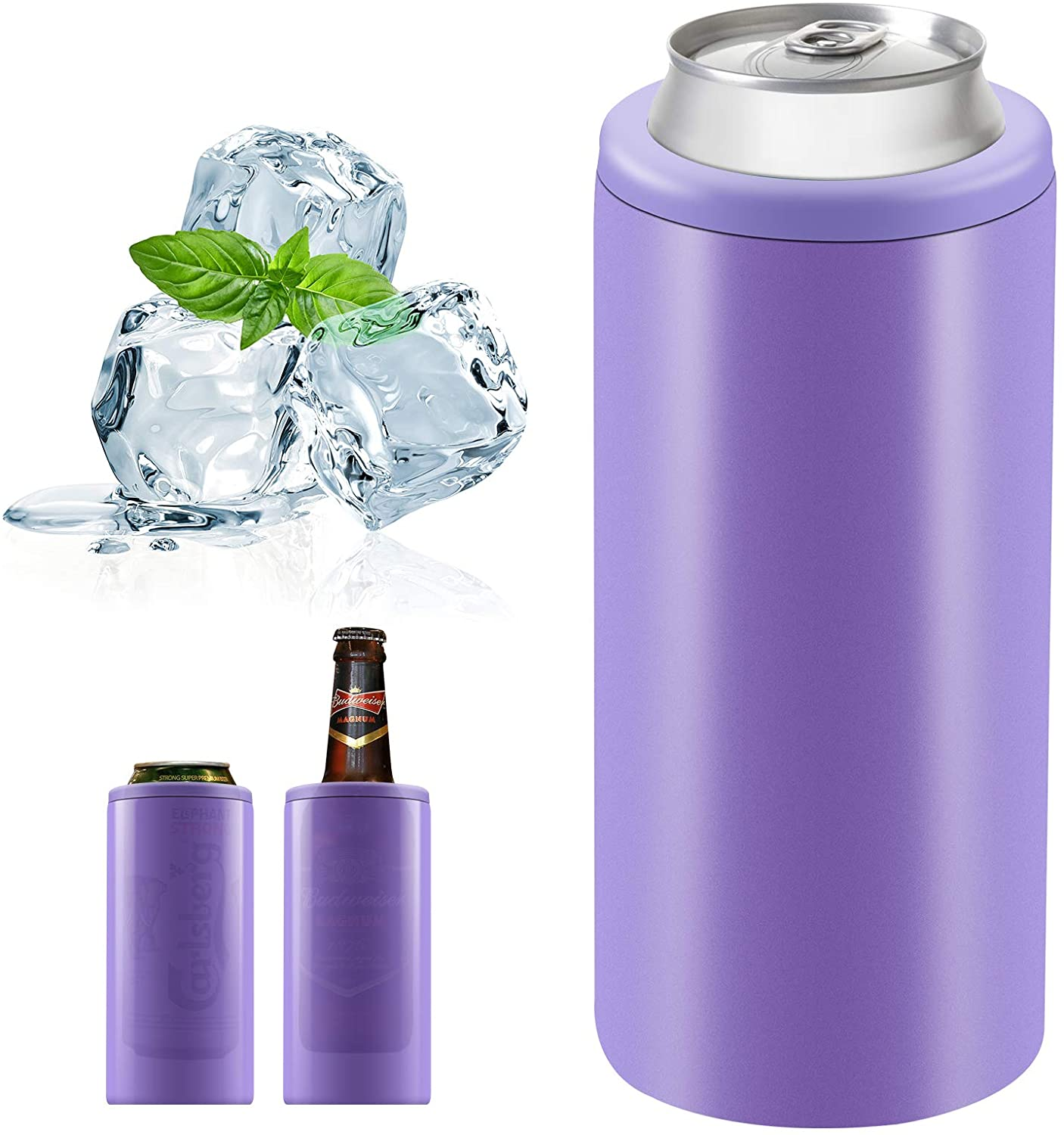 12oz Skinny Can Cooler Double-Walled Vacuum Insulated Slim Can