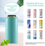 Load image into Gallery viewer, 12oz Skinny Can Cooler Double-Walled Vacuum Insulated Slim Can