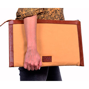 Leather & Canvas Folio