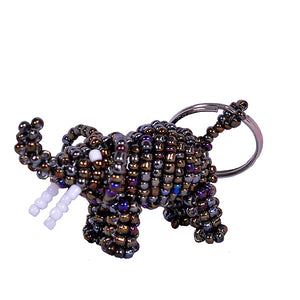 Beaded Elephant Keyring