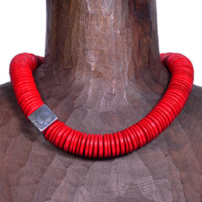 Cow Horn & Silver Necklace