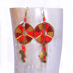 Africa Beaded Earrings