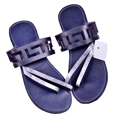 Leather Geometric Sandals