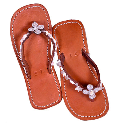 Girls' Maasai Beaded Flipflops