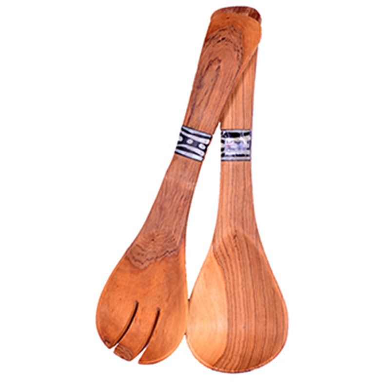 Bone Detailed Salad Servers