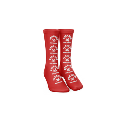 Official Trippie Redd High School Red Socks