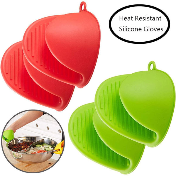 Heat Resistant Silicone Gloves - 2 pieces