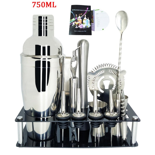 Cocktail Making Set With Optional Stand