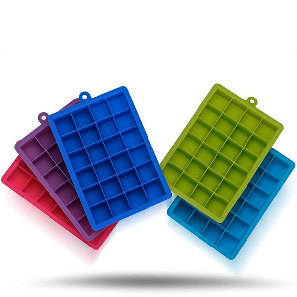 Square Ice Cube Trays - 2 trays making 24 cubes each