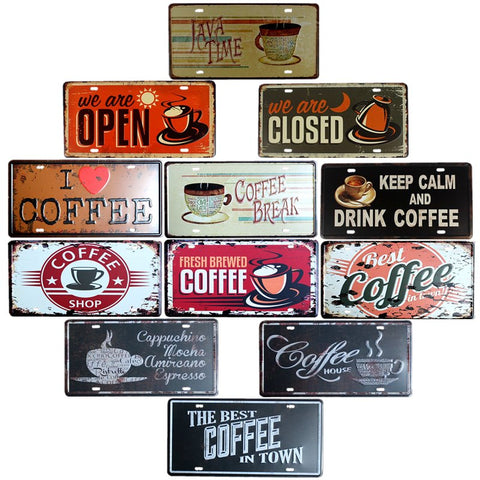 Vintage Style Cafe Signs