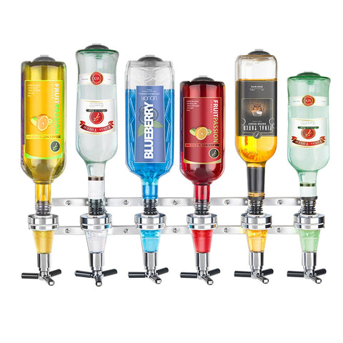 Wall Mounted 6 Station Drinks Dispenser