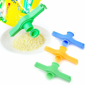 Keep Fresh Quick-Pour Food Bag Clip - 3 pack