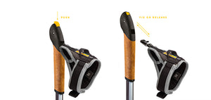 Vario Black Nordic Walking Poles by Vipole