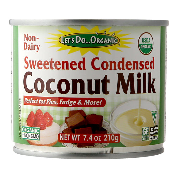 Let's Do Organic Non dairy Sweetened Condensed Coconut Milk 210g