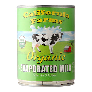 California Farms Organic Evaporate Milk Vitamin D added 354g
