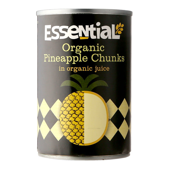 Essential Pineapple Chunks in Organic Juice 400g