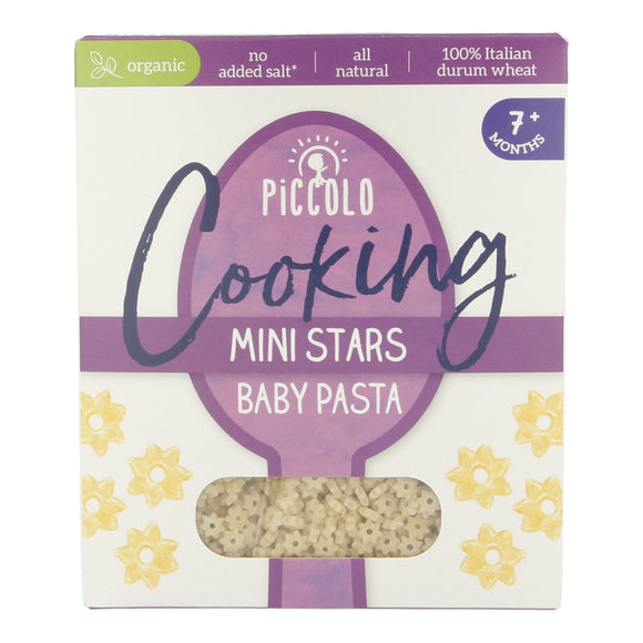 Piccolo Cooking Mini Stars Baby Pasta (7+ months) 500g