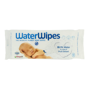 WaterWipes 99.9% water and a drop of fruit extract 60 wipes