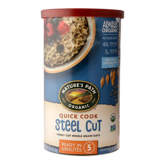 Nature's Path Organic Quick cook Steel Cut Finely Cut Whole Grain Oats 680g