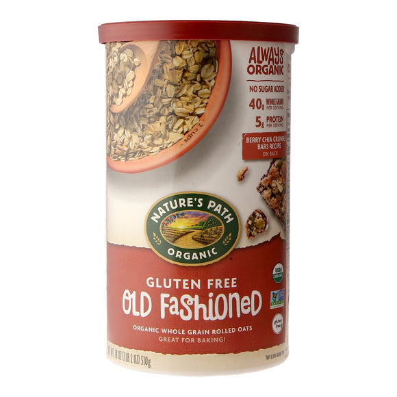 Nature's Path Organic Gluten Free Old Fashioned Organic Whole Grain Rolled Oats 510g