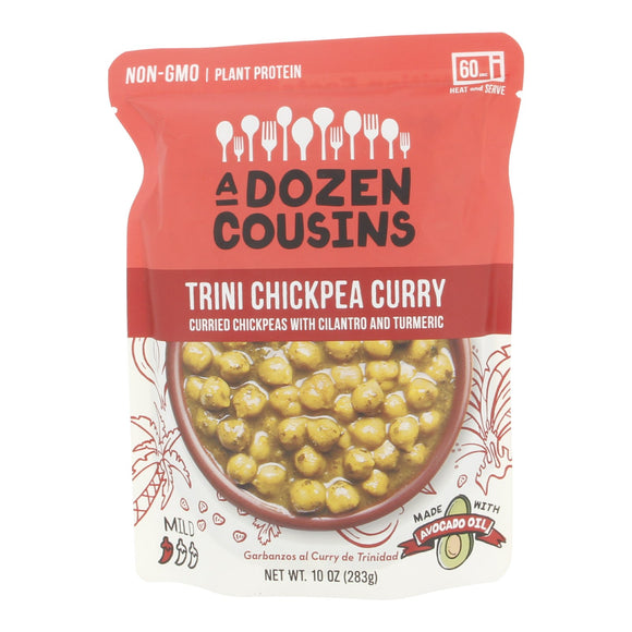 A Dozen Cousins Trini Chickpea Curry (Curried Chickpeas with Cilantro and Turmeric) 10oz/283g