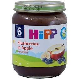 Hipp Organic Blueberries In Apple 125g