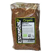 Essential ORG Brown Lentils 500g