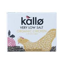 Kallo Organic Low Salt Chicken Stock Cubes 48g