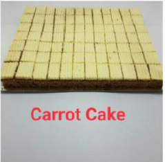 "Slab Cake - Carrot Cake With Cream Cheese12"" x 10.5"""
