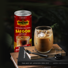 Load image into Gallery viewer, KING COFFEE RTD Ca Phe Sua Da Sai Gon (Vietnamese Iced Milk Coffee) 1ctn