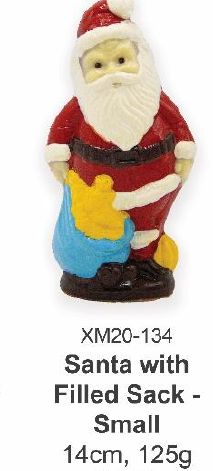 Santa with Filled Sack - Small 14cm, 125g