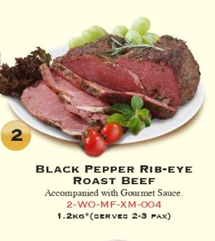 Beef - Roasted Black Pepper Rib-eye Beef 1.2 kg (Halal)*