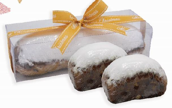Xmas Stollen in Transparent Gift Box 500g