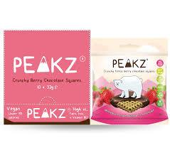 Peakz Crunchy Forest Berry Chocolate Squares 32g