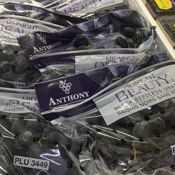USA Air flown Adorra Black Grapes 900g-1kg