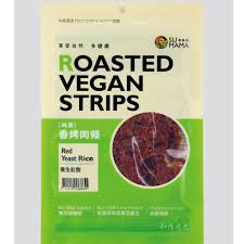 Su Mama Roasted Vegan Strips - Red Yeast Rice 100g