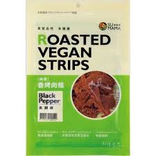 Su Mama Roasted Vegan Strips - Black Pepper 100g