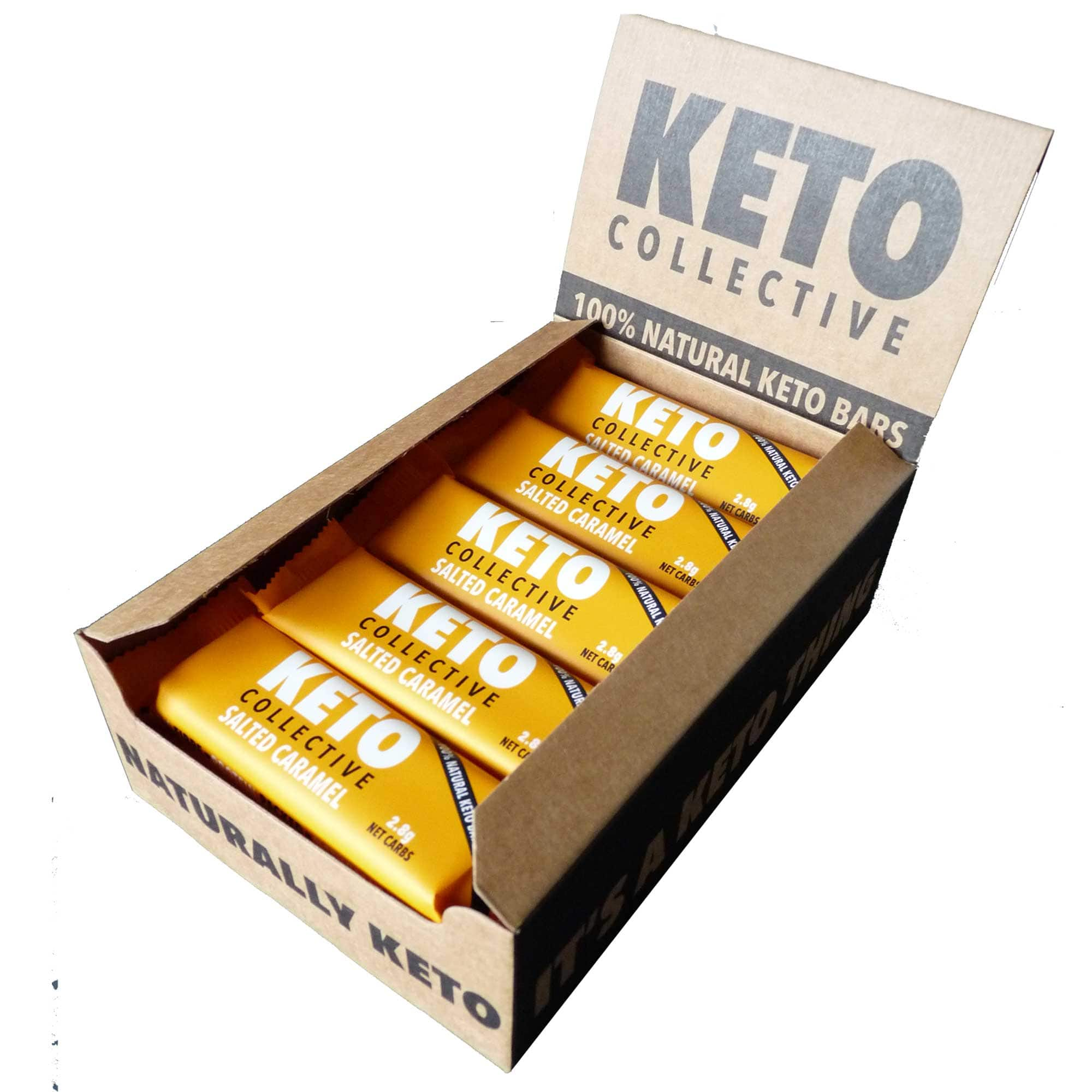 Wholesale Case -  SALTED CARAMEL KETO BARS ( 8 x 15 x 40g) - £100 ex VAT.