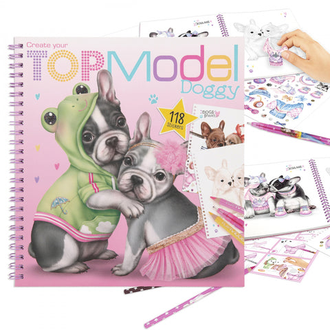 TOPModel Album à colorier Create your Doggy (6+)