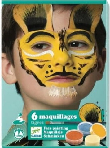 Coffret de 6 maquillages Tigres (3+)