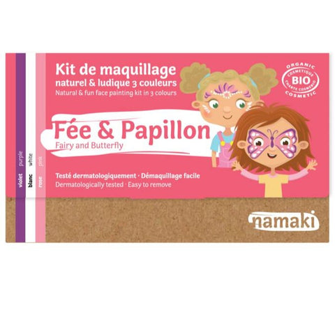 Kit de maquillage 3 couleurs Fée ou Papillon Bio