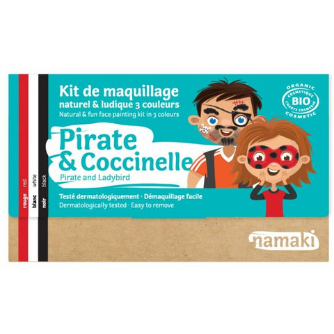 Kit de maquillage 3 couleurs Pirate ou Coccinelle Bio