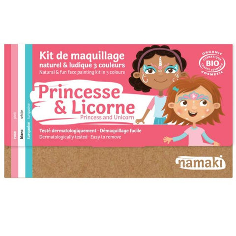 Kit de maquillage 3 couleurs Princesse ou Licorne Bio