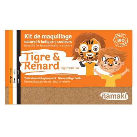 Kit de maquillage 3 couleurs Tigre ou Renard Bio
