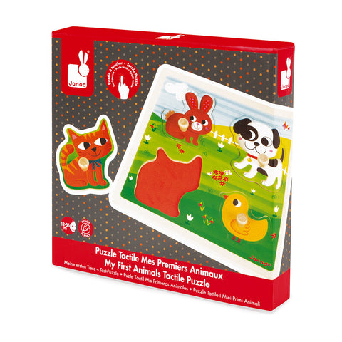 Puzzle tactile 1ers animaux (12m+)