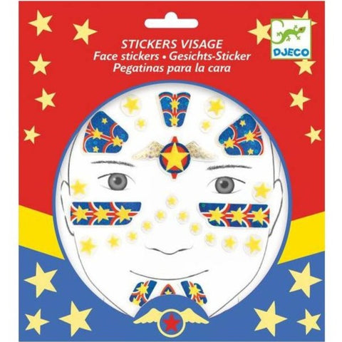 Stickers visage Super-Héros (3+)