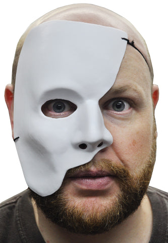 White Partial Face Mask