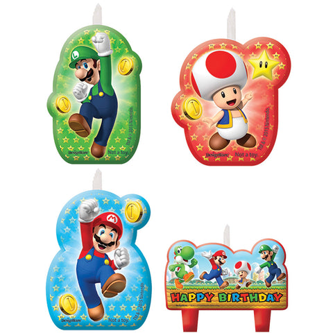 Super Mario Candle Set - Pack of 4