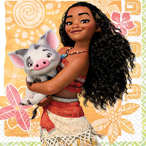 "5"" Moana Bev Napkins - Pack of 16"